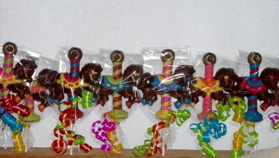 10 Carousel Horse Lollipops
