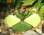 Vintage Lazy Susan - Avocado Green - 1970's Kitchen Decor - Party Platter - Lazy Susan - Green Plastic Table Susan - Snack Tray