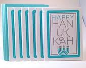 6 Pack Letterpress Hanukkah Card