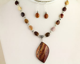 Mookaite Necklace Set. Listing 156139898