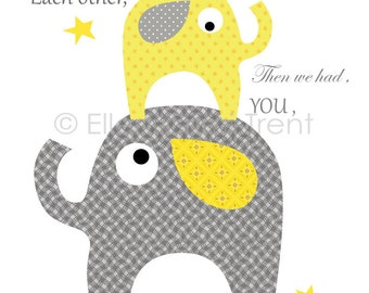 First we had each other print- Kids wall decor