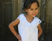 White, Lace Dress, Gown for Girls