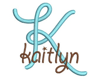 Curly Girl IV Satin Machine Embroidery Monogram Fonts Designs 4x4 Hoop Instant Download Sale