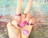 braided bamboo basket infinity ring /  Hawaiian band ring /  unisex custom size ring