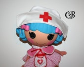 Nurse Hat for Lalaloopsy Dolls // Ready to Ship