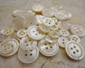 Vintage Mother of Pearl Buttons Mixed Lot (40)