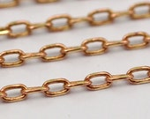 10 M Faceted  Soldered  Brass Chain (1.7x2.9 mm) W5-60rose  ( Z043 )