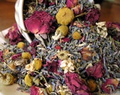 Potpourri Herbal Blend, Organic Chamomile, Lavender and Red Roses- Bulk (4 ounces) make scented sachets, bath tea & bridal shower favors