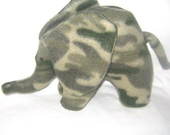 Small Camouflage Baby Elephant Stuffed Animal  Washable Soft Plush Toy Elephant