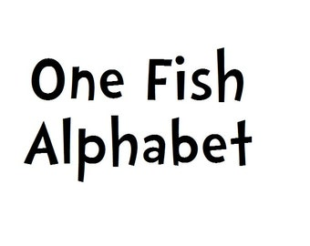Instant Download - One Fish Alphabet Filet Crochet Cross Stitch Pattern