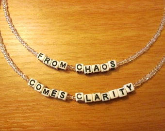 311 From Chaos Comes Clarity Beaded Necklace