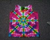 Pink Kaleidoscope Tie Dye Tank Ladies XL