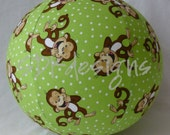 Fabric cover for a balloon - Monkey ball - Great easter basket Stuffer, Birthday Gift or Party Decor