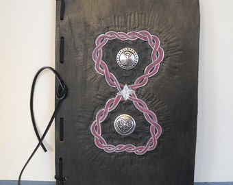 Unlocked Hearts Black Refillable Leather Journal