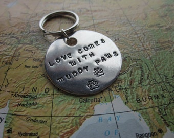The Luther Dog Tag - Love Comes With Muddy Paws Dog Tag