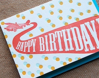 Happy Birthday - Mini Flyer - 4bar card and envelope