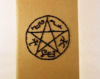 Devil's Trap (Supernatural) Hand Embroidered Moleskine Notebook
