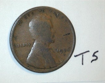 Lincoln Wheat Penny / Wheat Back Penny / Date 1926 D / T5