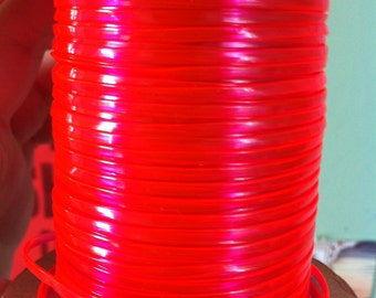 10 Meters of Clear Red rexlace, perfect for adding to dread falls
