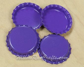 50 Dark Purple Bottle Caps (03-02-254)