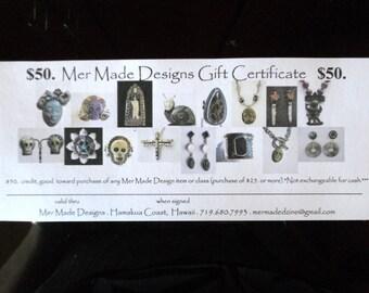 Mer Made Designs Gift Certificates