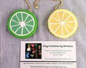 """New """"Cane"""" Lemon & Lime  Ceiling Fan Pulls"""