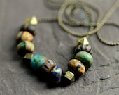 "Boho Necklace, Tribal Necklace, Africa Inspired, Eco Necklace, Rustic, Hippie - ""Savannah Summer"""