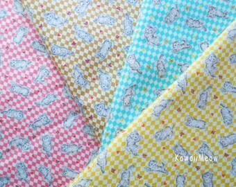 SALE - Ribbon Kittens - 4 Fat Quarter Bundle Set (ma130914)