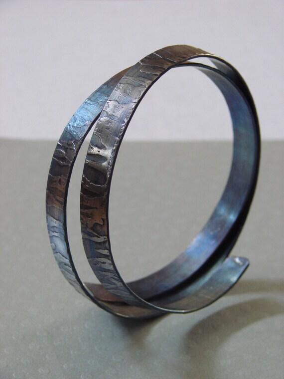 Orbit Titans -3  Bracelet  hand fabricated in Titanium