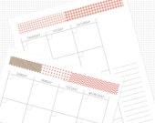 Printable Planner Agenda (cayenne)