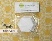 "100 1"" hexagon paper templates pack"