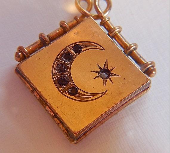 Vintage Victorian Gold Sun Stars And Moon By Vintagepoetlandia