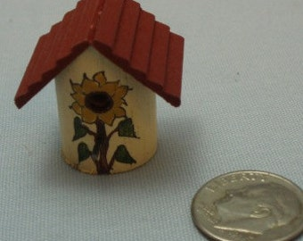 Sale Item - Hand Made Wooden Miniature Birdhouse