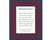 Mychals Prayer NYFD Chaplain Paper Cut Mat Border Wall Art Wall Decor 8X10 Unframed