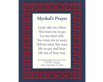 Mychals Prayer NYFD Chaplain Paper Cut Border 8X10 Unframed