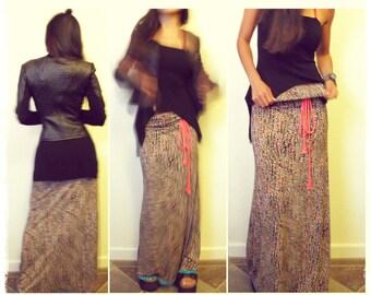 Mermaid Maxi Boho Skirt