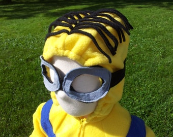Instock Yellow and Blue Minion Costume with Goggles