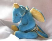 Sale!!Sleepy Baby Dragon Plush PDF Sewing Pattern