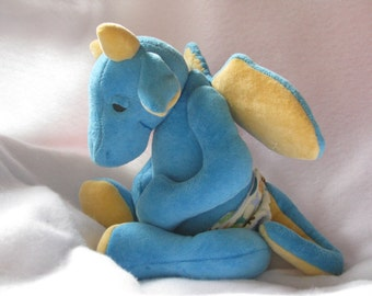 Sleepy Baby Dragon Plush PDF Sewing Pattern