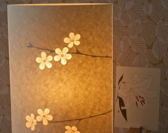 Tall Oval Cherry Blossom lamp