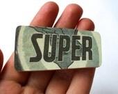 Super Duper Wooden Brooch