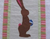 Chocolate bunny quilt kit