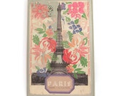 Printed Leather Moleskine Notebook Cover - Paris
