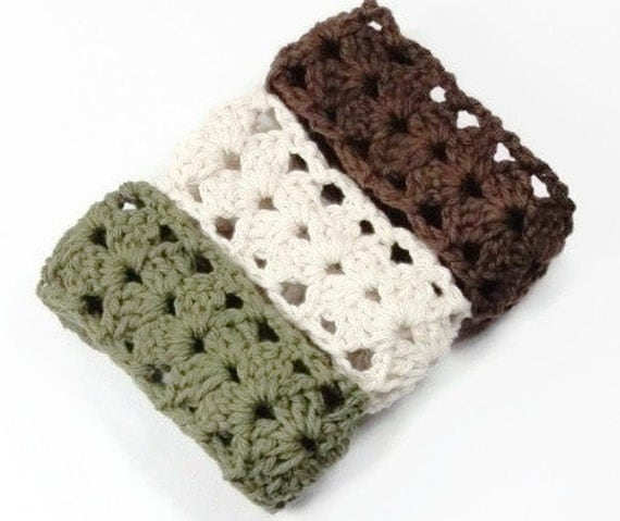 Crochet Lace Headband, Adult Women Headbands, Stretchy Adjustable Hair Bands