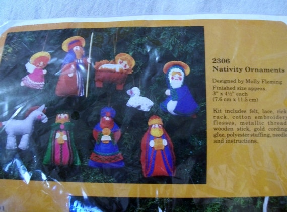 Felt christmas ornaments kit nativity ornaments the creative