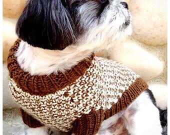 KNITTING PATTERN for Tweedledee and Tweedledeena Dog Sweaters