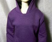 Purple hoodie sweatshirt for SD,1/3 bjd,luts DOLL