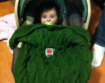 Bardan Car-Seat Blanket for Baby and Toddler, PDF knitting pattern