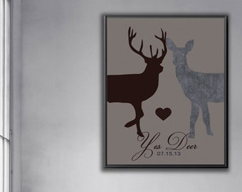 Sentimental Wedding Gift For Husband : Gift from wife to husband, Romantic wedding gift, Couples Deer Doe ...