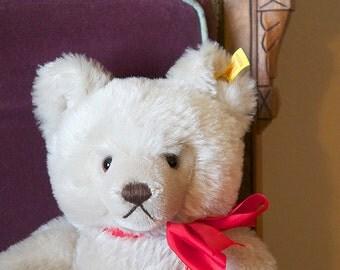 1980s Vintage Steiff Gray Original Teddy Bear ~ Great Growler!!